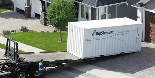 How we deliver a BigSteelBox to a home