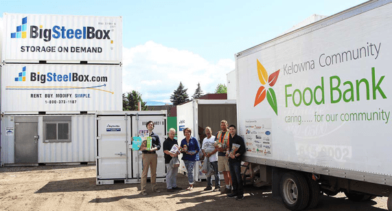 BigSteelBox food drive with the Food Bank