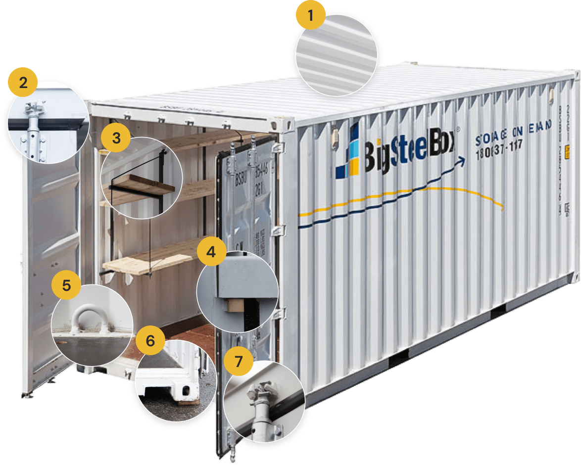 BigSteelBox shipping container security features