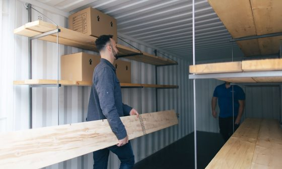 Add shelving to your Shipping Container